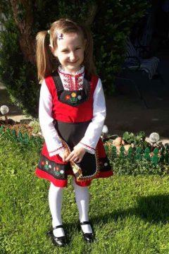 Детска носия за момиченце от Тракийския етнографски регион