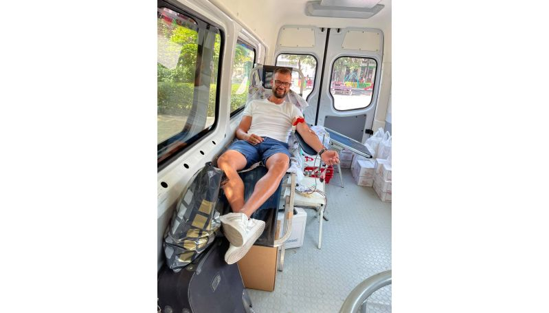 Зам.-председателят на ОбС и председател на групата на ГЕРБ Владимир Пильов дари кръв